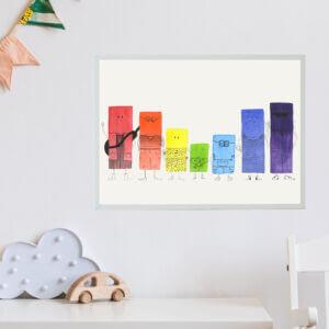 Samengesteld gezin stalen kleurlegioen